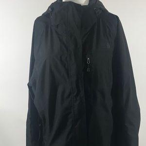 The  North Face Black Hyvent Jacket w hood sz XL